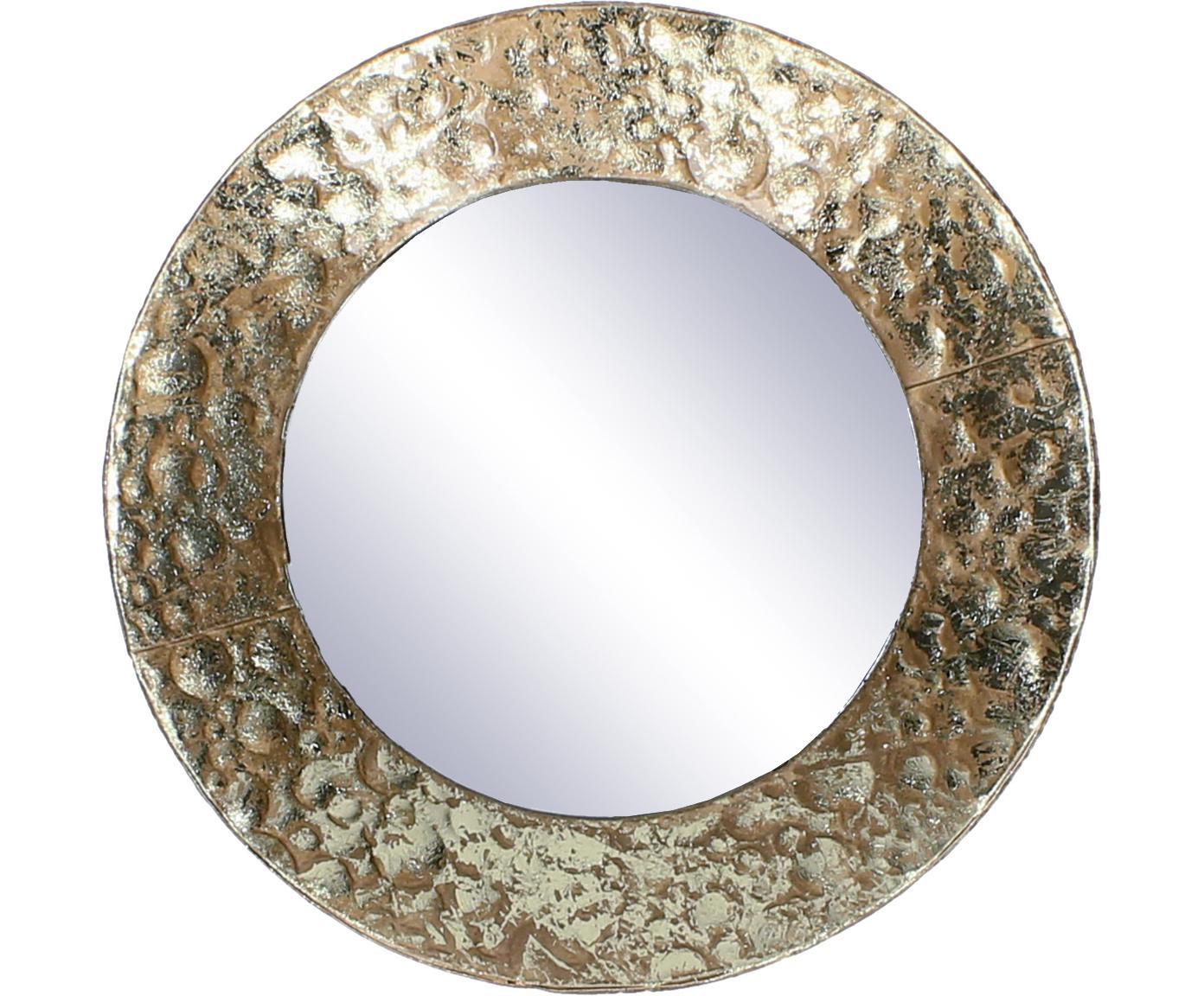 Runder Wandspiegel Fridy mit Messingrahmen, Rahmen: Metall, beschichtet, Spiegelfläche: Spiegelglas, Messingfarben, Ø 21 cm