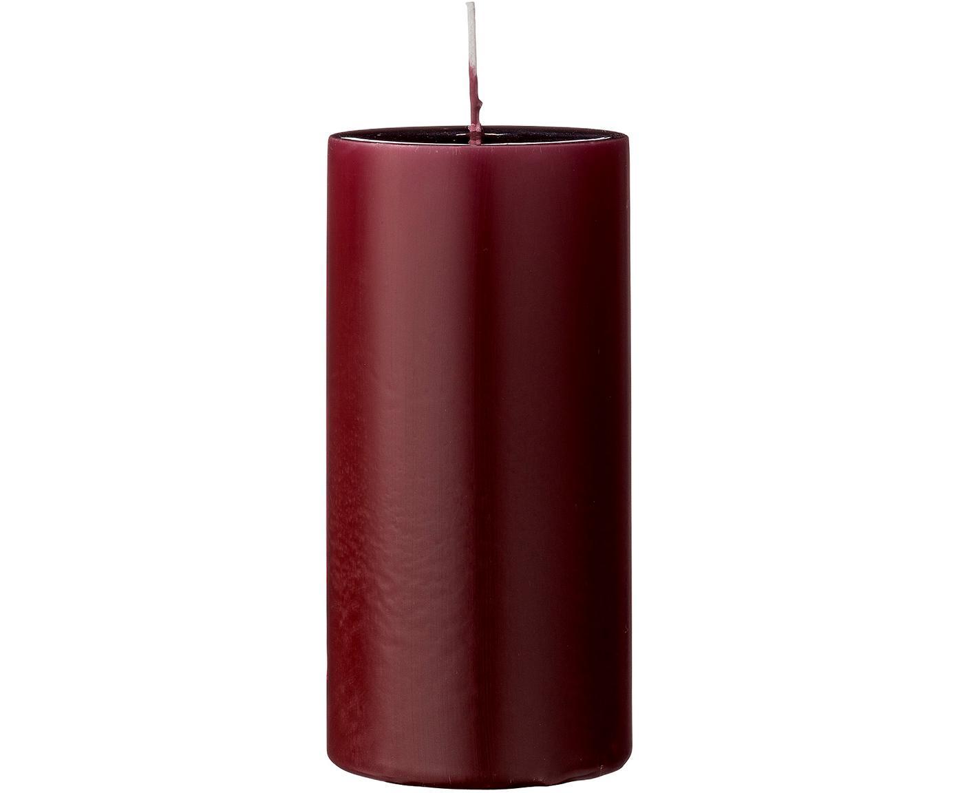Stompkaarsen Lulu, 2 stuks, Was, Rood, Ø 7 cm