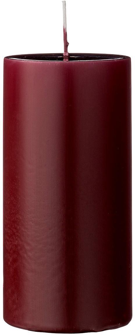 Stumpenkerzen Lulu, 2 Stück, Wachs, Weinrot, Ø 7 x H 15 cm