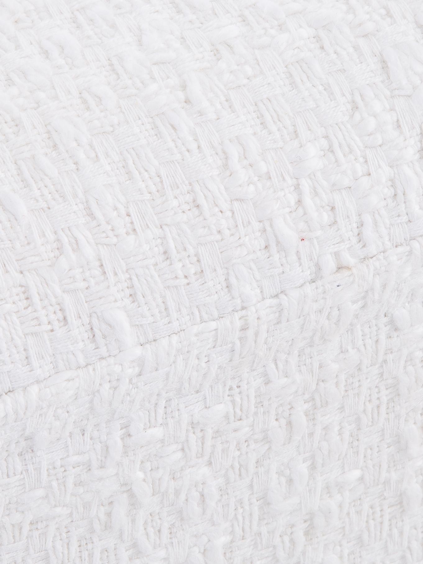 Bouclé bankje Harper, Bekleding: katoen, Poten: gepoedercoat metaal, Crèmekleurig, goudkleurig, 90 x 44 cm