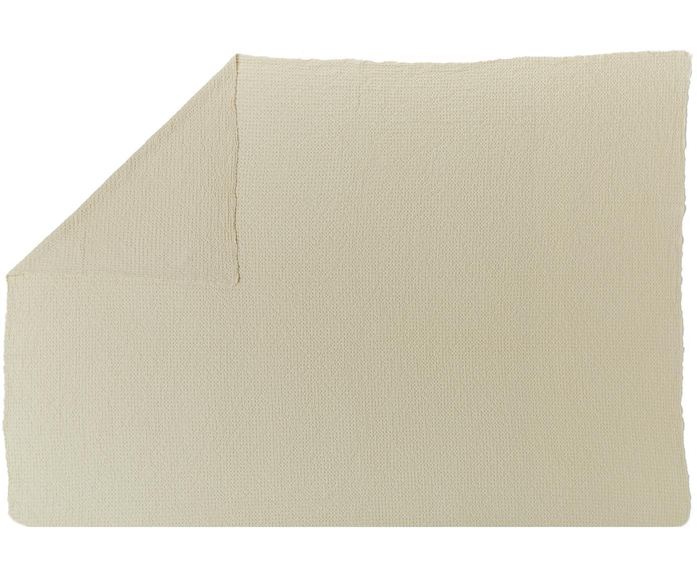Narzuta ze strukturalną powierzchnią Vigo, 100% bawełna, Biały, S 220 x D 240 cm