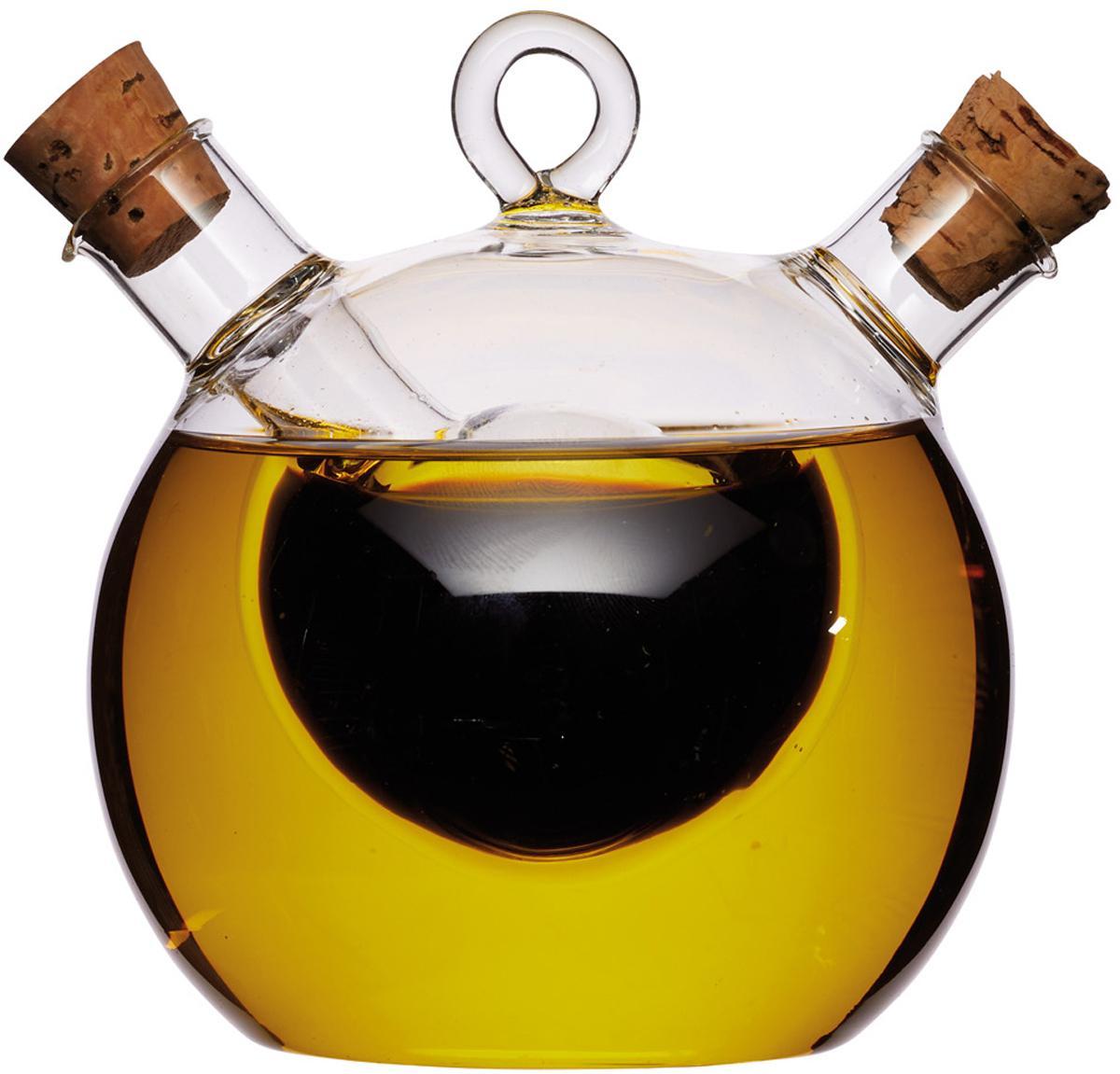 Azijn- en oliedispenser Ital, Glas, Transparant, Ø 9 x H 12 cm