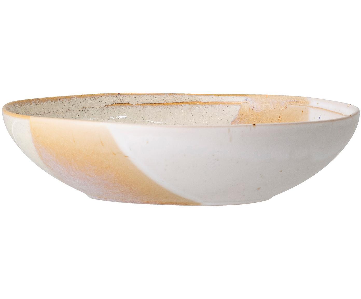 Ręcznie wykonany talerz głęboki April, Kamionka, Odcienie beżowego, Ø 23 x W 6 cm