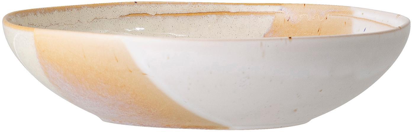 Handgemachter Suppenteller April mit effektvollen Farbverläufen, Steingut, Beigetöne, Ø 23 x H 6 cm
