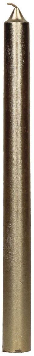 Stabkerzen Ignis, 2 Stück, Paraffinwachs, Champagnerfarben, Ø 2 x H 25 cm