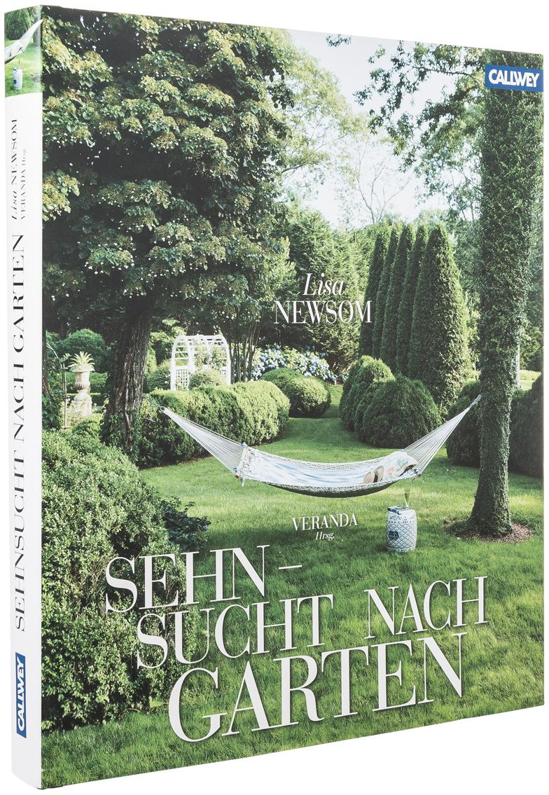 Buch Sehnsucht nach Garten, Papier, Grün, 27 x 31 cm