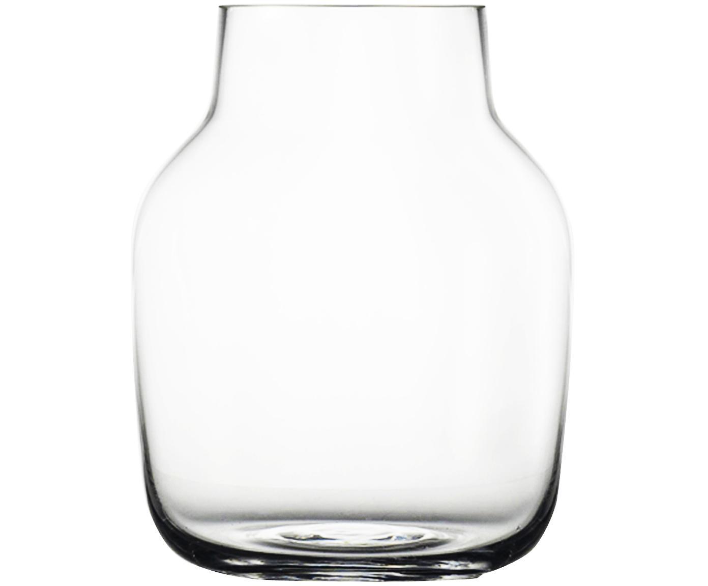 Mundgeblasene Design-Vase Silent, Glas, Transparent, H 19 cm