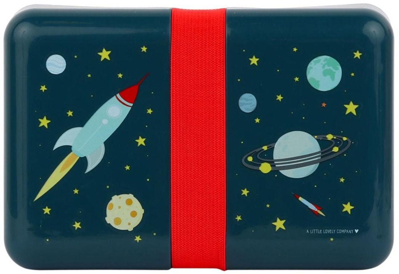 Pudełko na lunch Space, Tworzywo sztuczne, Niebieski, czerwony, S 12 x W 6 cm