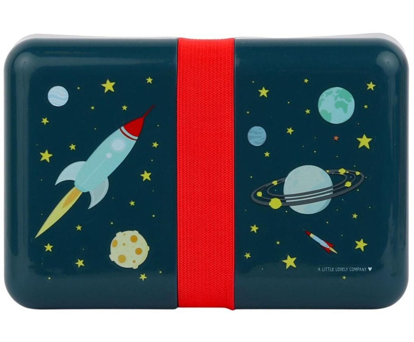 Lunchtrommel Space, Kunststof, Blauw, rood, 12 x 6 cm