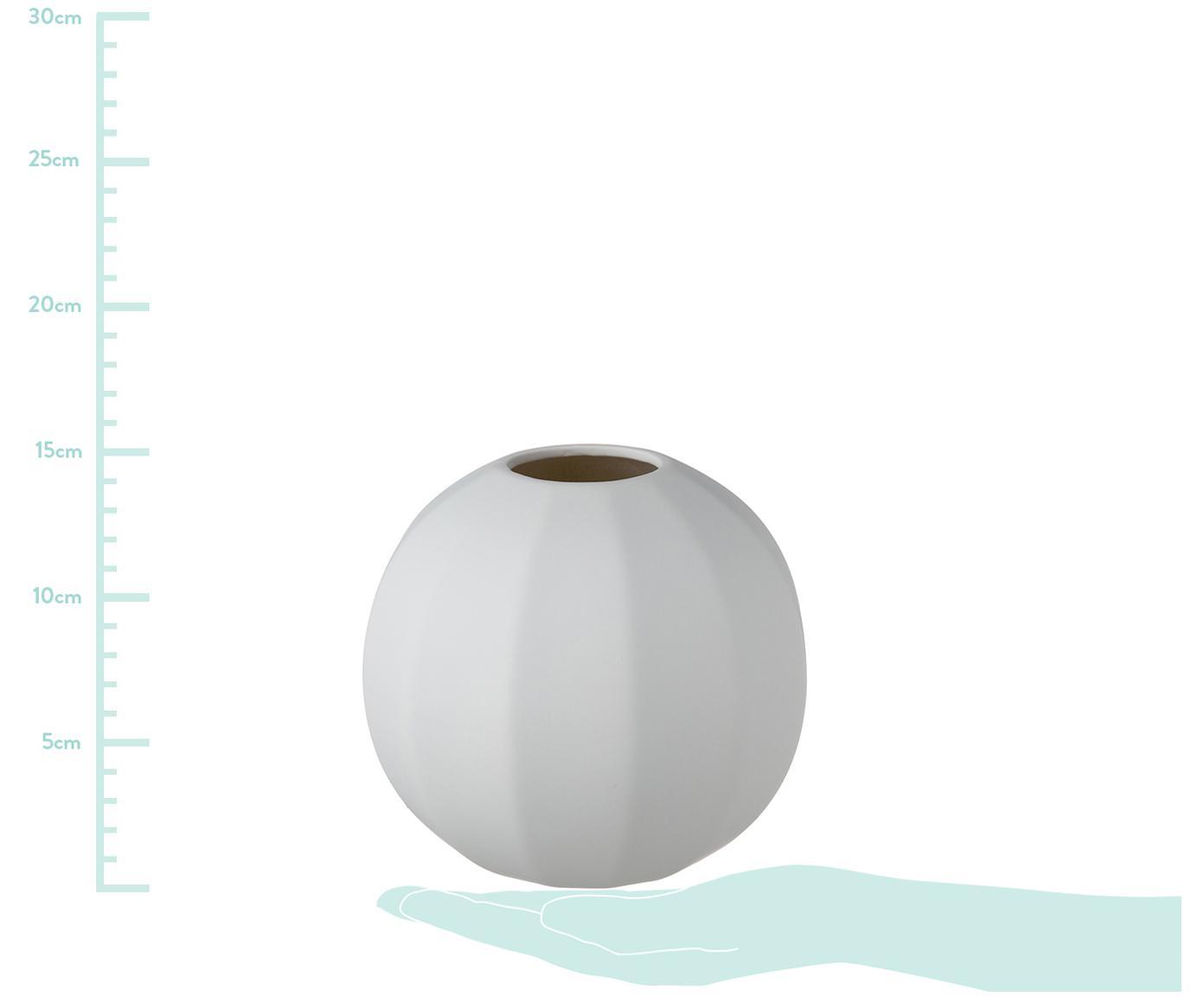 Vaso Edge Ball, Ceramica, Grigio chiaro, Ø 15 x A 14 cm