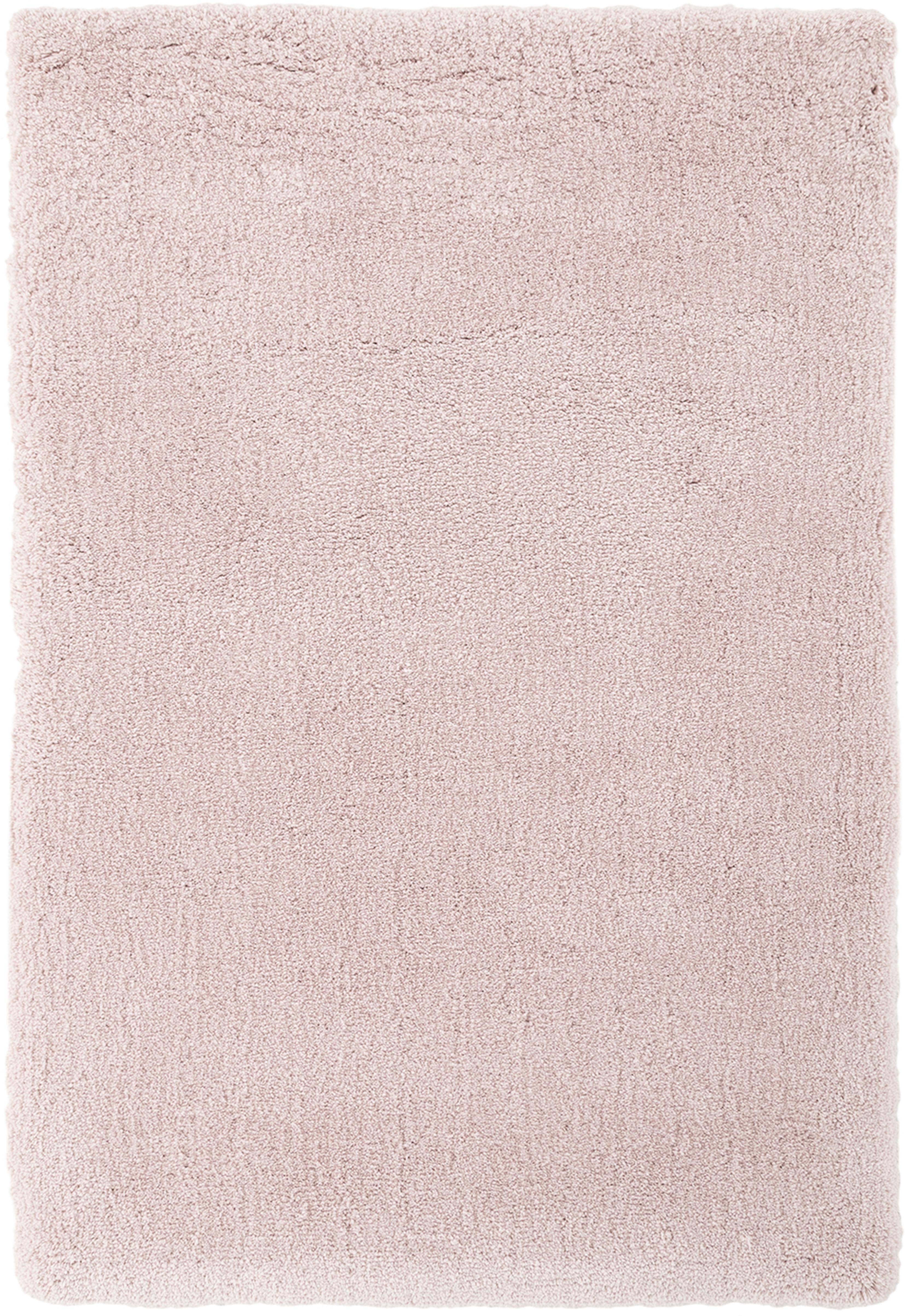 Pluizig hoogpolig vloerkleed Leighton in roze, Bovenzijde: 100% polyester (microveze, Onderzijde: 70% polyester, 30% katoen, Roze, B 160 x L 230 cm (maat M)