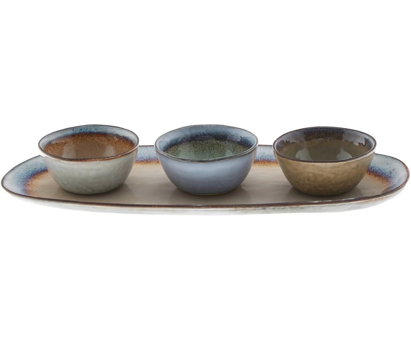 Set 4 ciotole Nominomo, Terracotta, Multicolore, Diverse dimensioni
