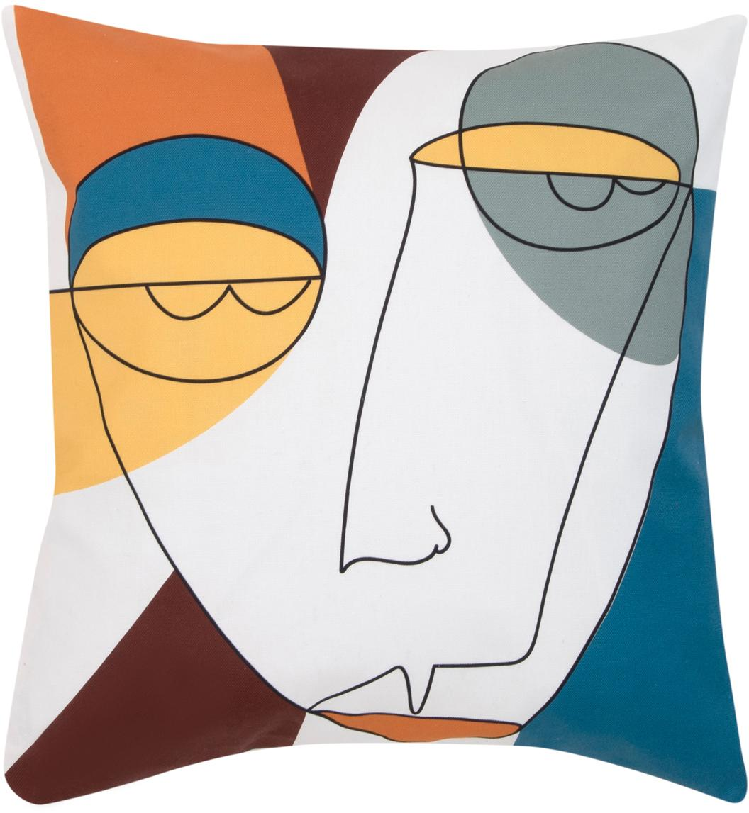Kussenhoes Adrian, Weeftechniek: panama, Wit, multicolour, 40 x 40 cm