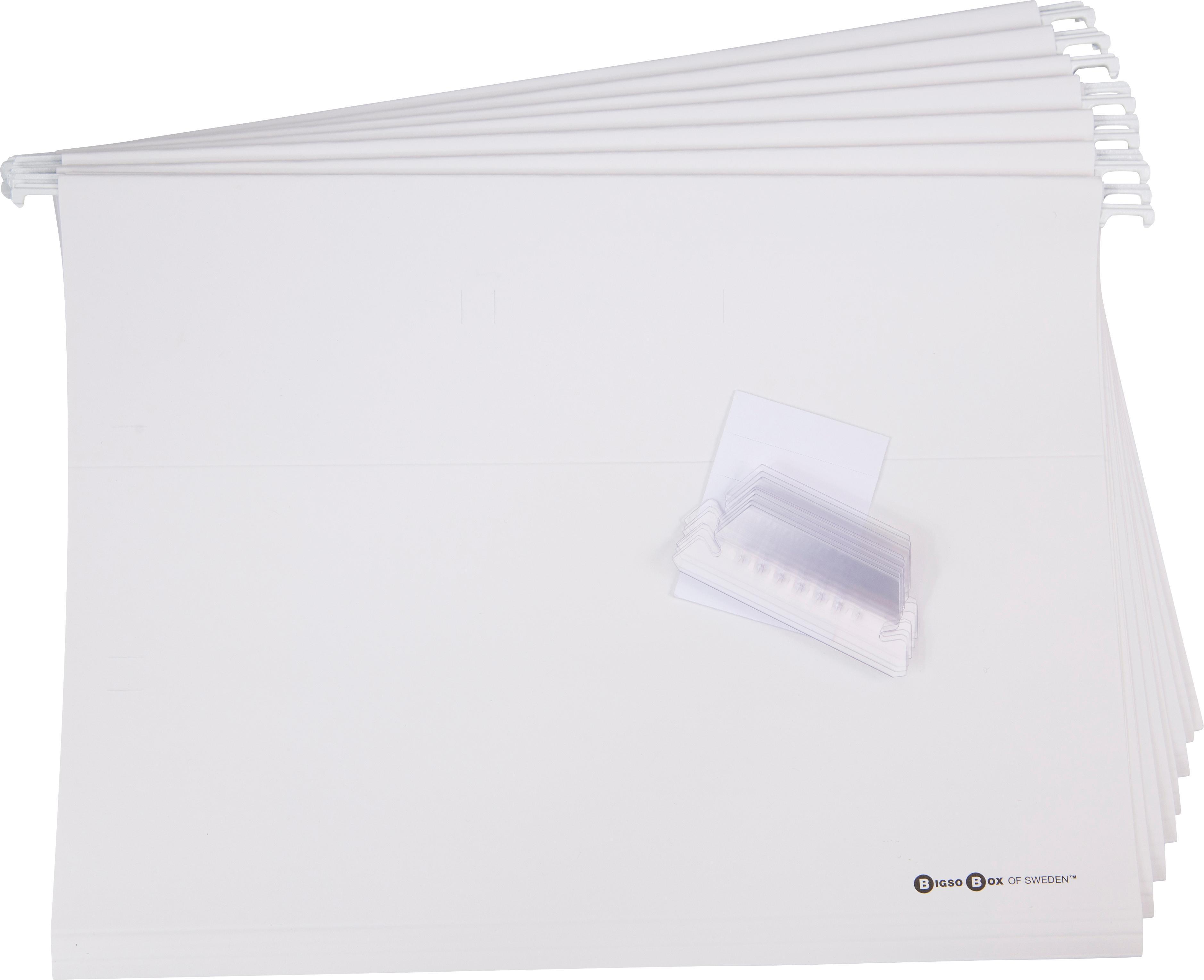 Hängeregister-Box Johan II, 9-tlg., Organizer: Fester Karton, mit Holzde, Griff: Leder, Organizer außen: SchwarzOrganizer innen: SchwarzGriff: Beige, 19 x 27 cm