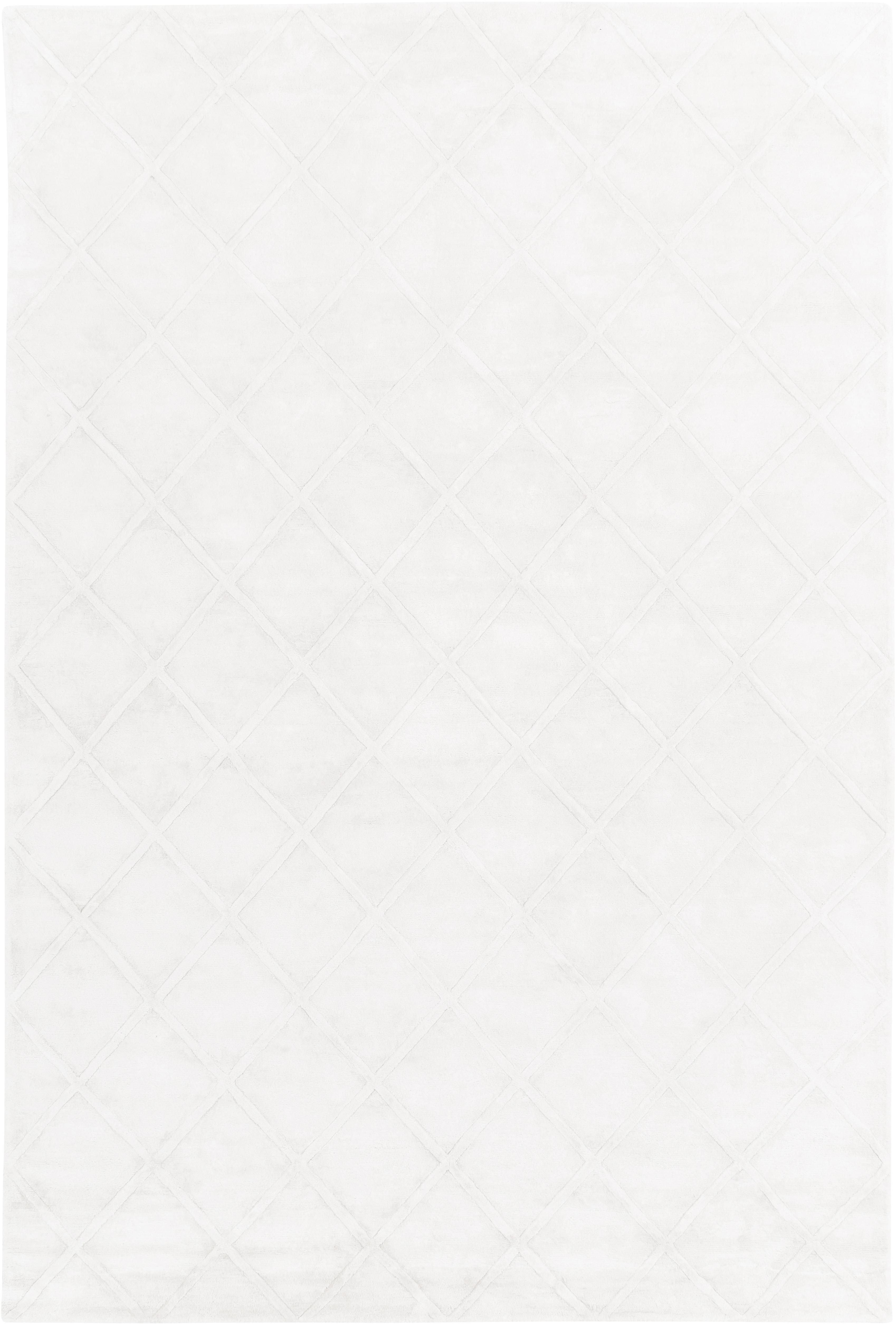 Tappeto in viscosa taftato a mano Madeleine, Retro: 100% cotone, Crema, Larg. 200 x Lung. 300 cm (taglia L)
