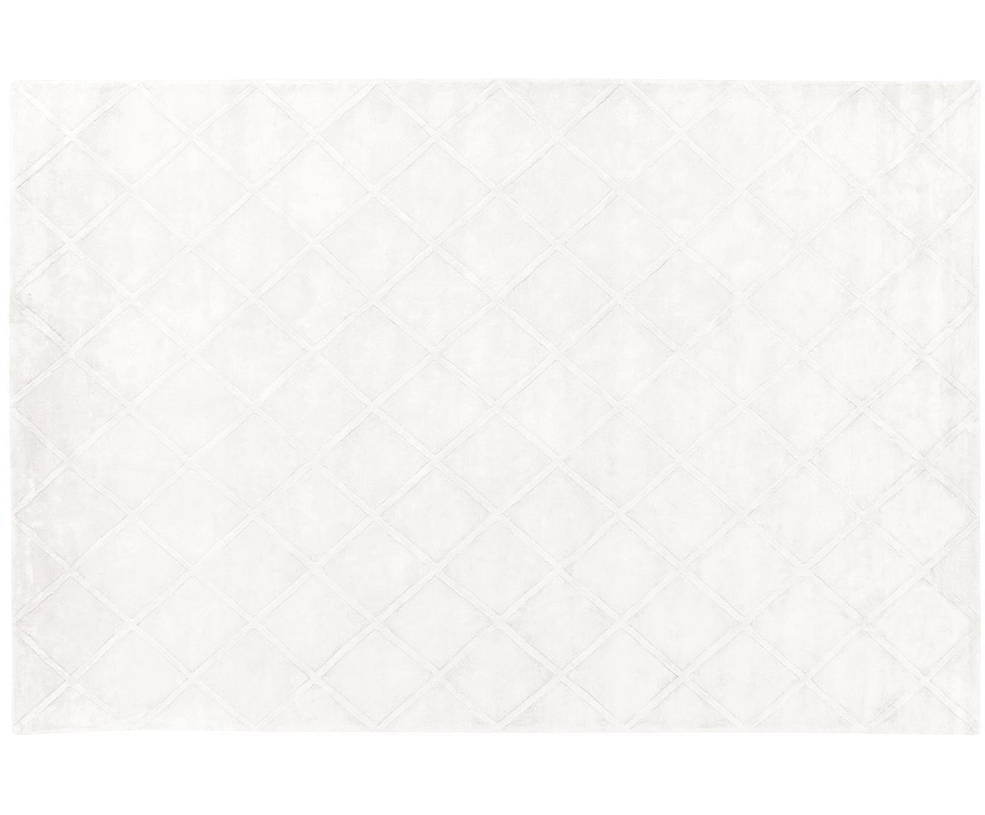 Ręcznie tuftowany dywan z wiskozy Shiny, Kremowy, 200 x 300 cm (Rozmiar L)