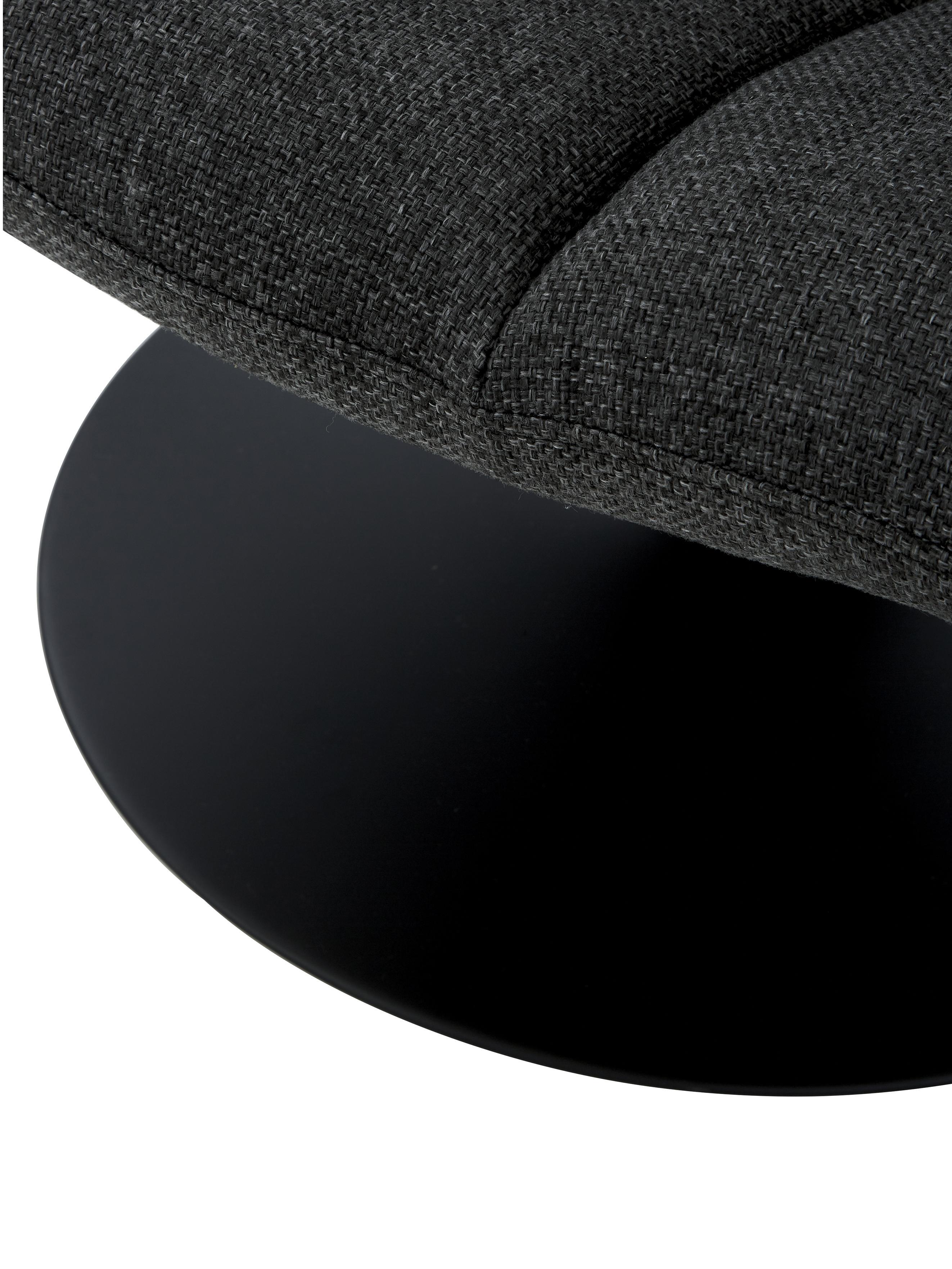 Fotel obrotowy Bar, Tapicerka: poliester 25000 cykli w , Stelaż: metal malowany proszkowo, Korpus: drewno warstwowe, Ciemnyszary, S 66 x G 78 cm