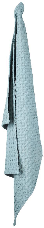 Paños de cocina con estructura gofre Wanda, 2 uds., Algodón orgánico, Azul claro, An 50 x L 70 cm