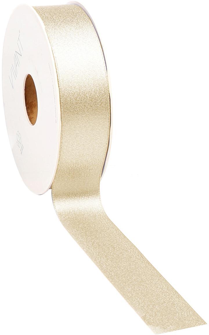 Geschenkband Victoria, Polyester, Goldfarben, 3 x 2000 cm