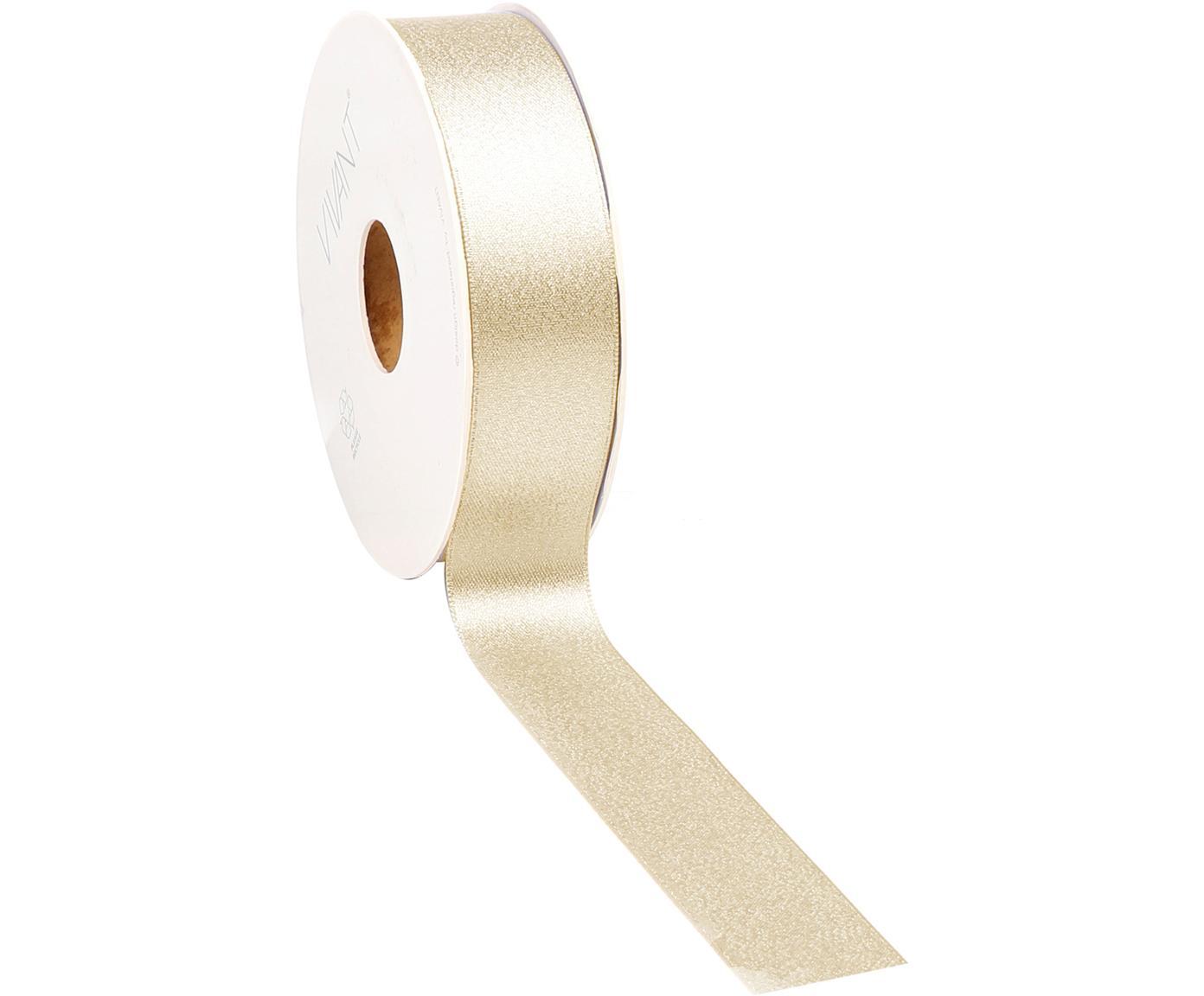Wstążka prezentowa Victoria, Poliester, Odcienie złotego, S 3 x D 2000 cm