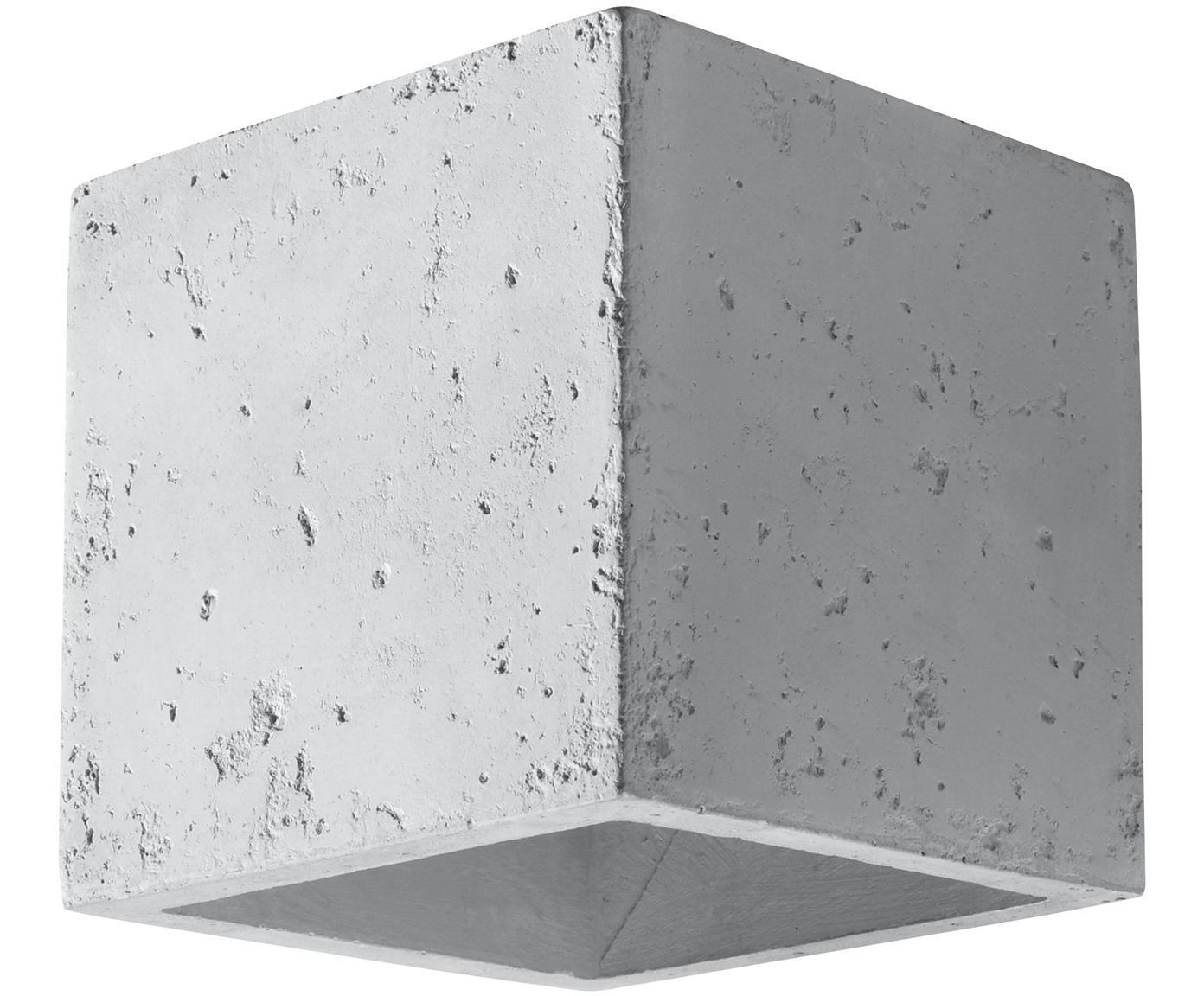 Wandleuchte Quad, Beton, Gebrochenes Weiss, 10 x 12 cm