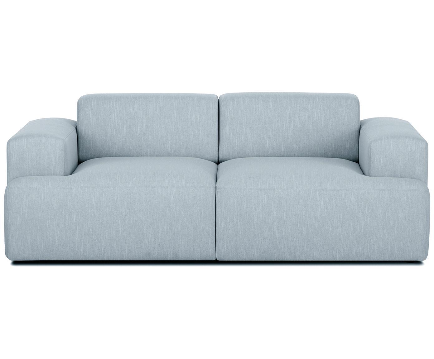 Sofa Melva (2-Sitzer), Bezug: Polyester 35.000 Scheuert, Gestell: Massives Kiefernholz, Spa, Füße: Kiefernholz, Webstoff Blaugrau, B 200 x T 101 cm