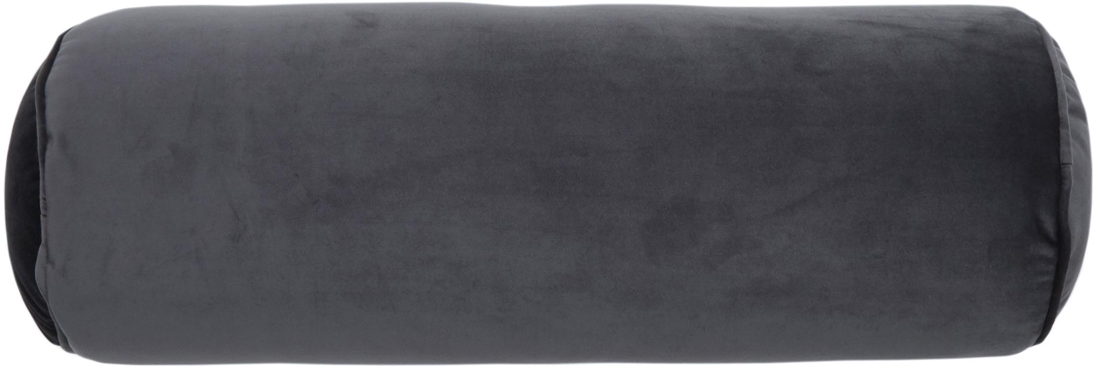 Glanzende fluwelen nekrol Monet, Donkergrijs, Ø 18 x L 50 cm