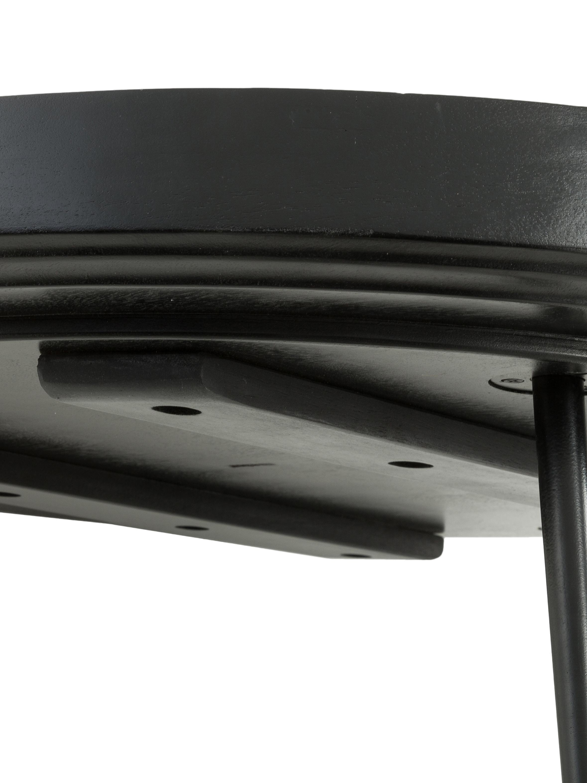 Tavolino da salotto di design Bowl Table, Piano del tavolo: legno di mango, verniciat, Gambe: acciaio verniciato a polv, Nero, Ø 75 x Alt.38 cm