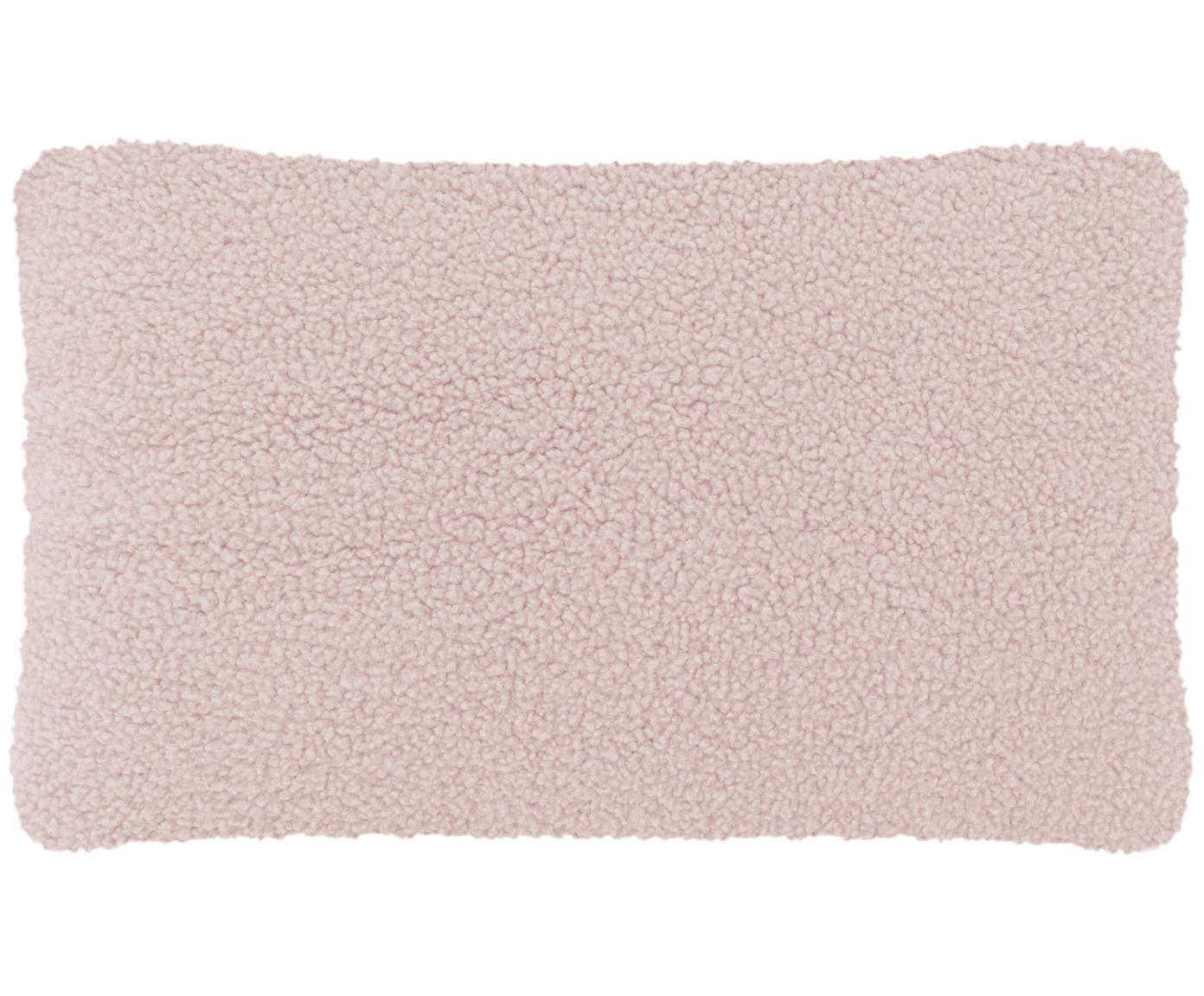Funda de cojín de borreguillo Mille, Funda: poliéster (borreguillo), Rosa, An 30 x L 50 cm