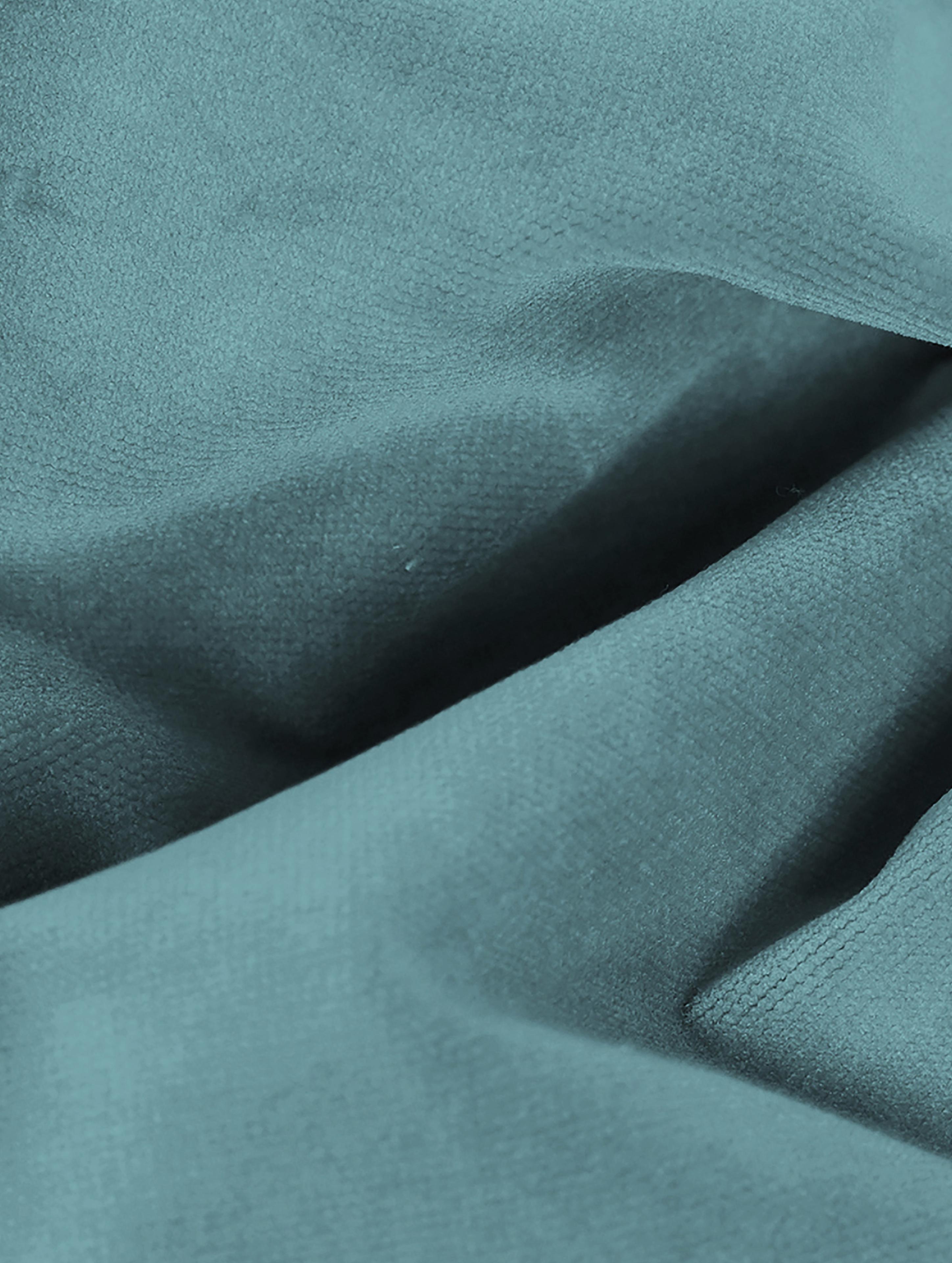 Poltrona in velluto Moby, Rivestimento: velluto (rivestimento in , Struttura: legno di pino massiccio, Piedini: metallo verniciato a polv, Velluto turchese, Larg. 90 x Prof. 90 cm