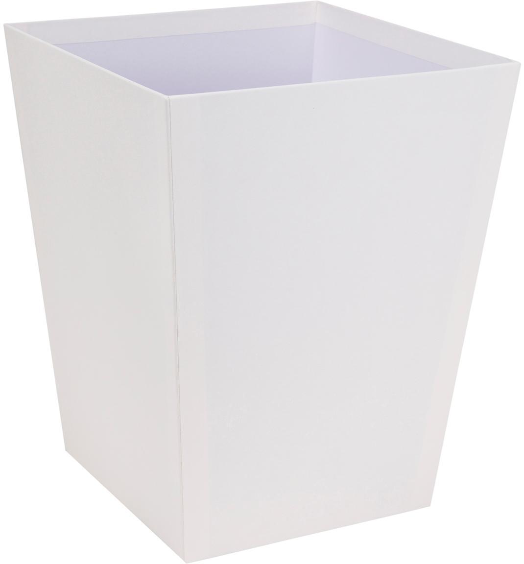 Cestino per carta Sofia, Solido, cartone laminato, Bianco, Larg. 26 x Alt. 33 cm