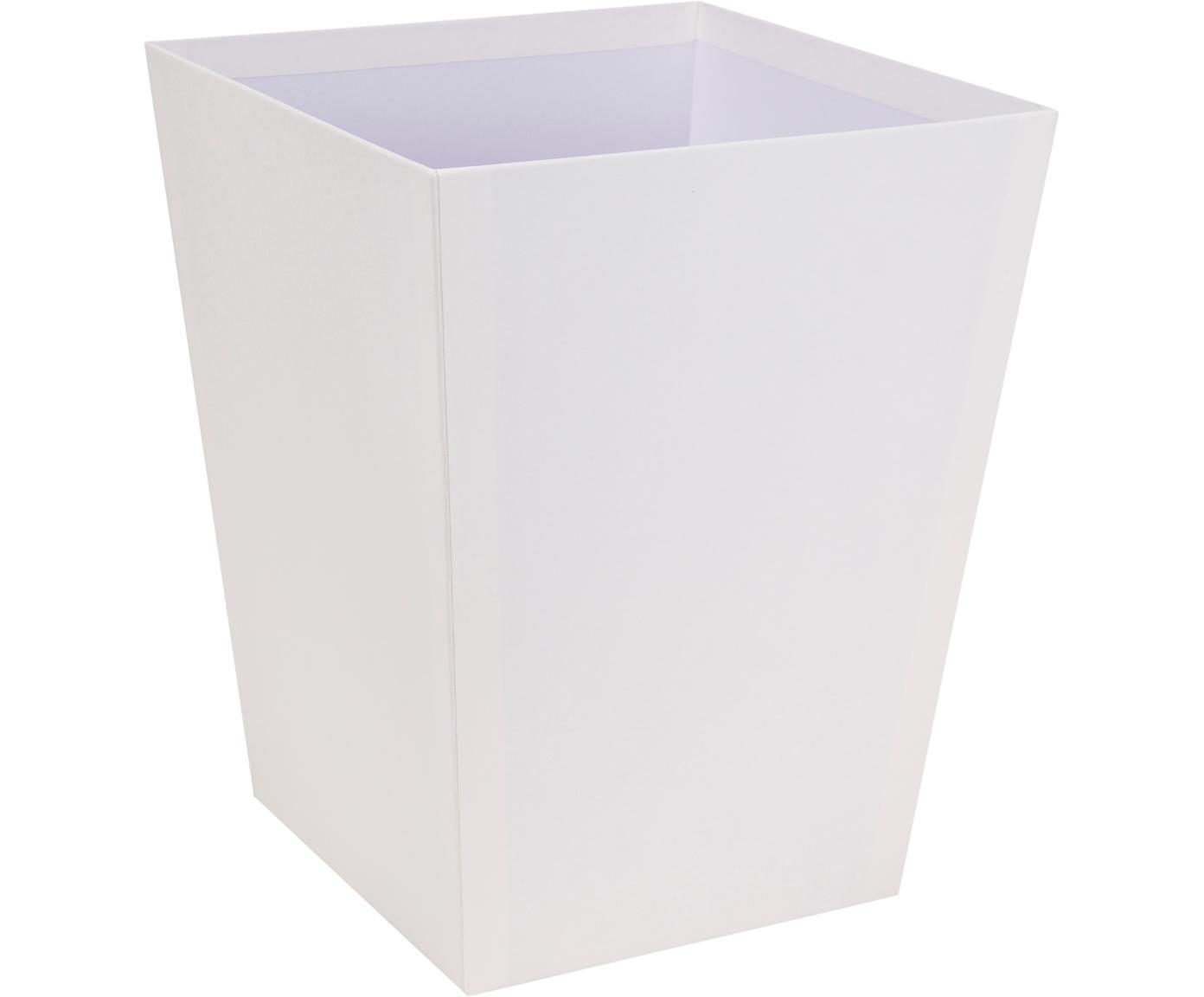 Papierkorb Sofia, Fester, laminierter Karton, Weiß, 26 x 33 cm