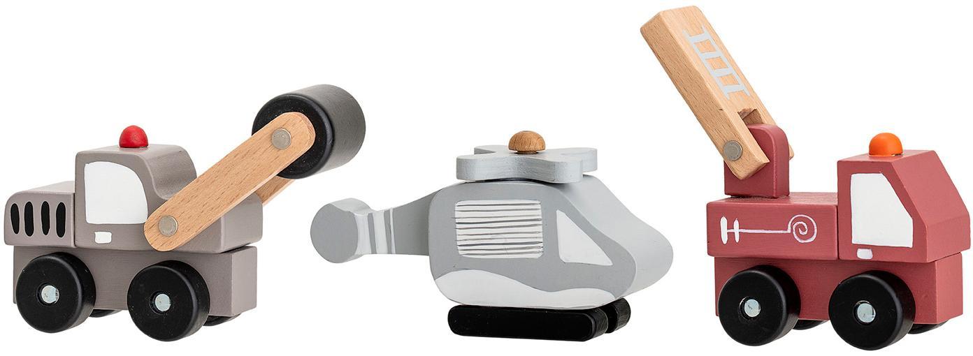 Set de juguetes Bruno, 3pzas., Tablero de fibras de densidad media (MDF), madera contrachapada, metal, Multicolor, Set de diferentes tamaños