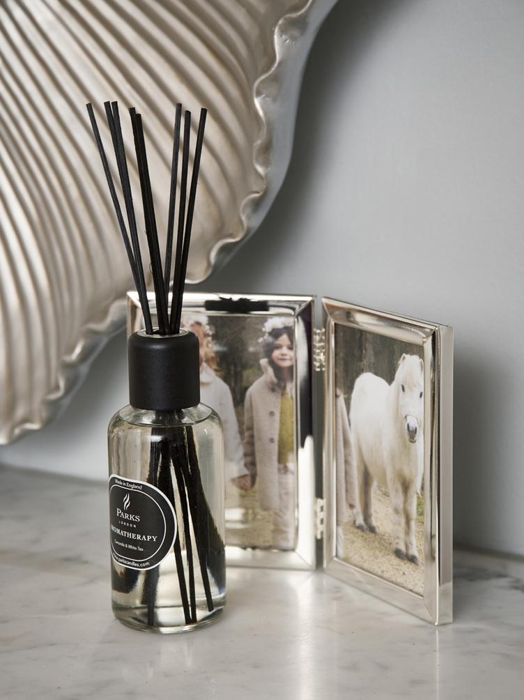 Dyfuzor zapachowy Aromatherapy (trawa cytrynowa i mięta), Transparentny, biały, czarny, Ø 6 x W 14 cm