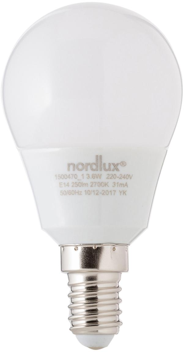 LED lamp Azer (E14 / 4W), Peertje: opaalglas, Fitting: aluminium, Wit, Ø 5 x H 9 cm
