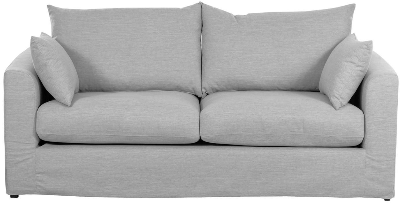 Sofa Zach (2-Sitzer), Bezug: Polypropylen Der hochwert, Webstoff Grau, B 191 x T 90 cm