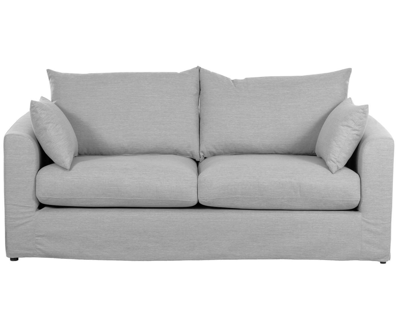 Sofa Zach (2-Sitzer), Bezug: Polypropylen Der hochwert, Füße: Kunststoff, Webstoff Grau, B 191 x T 90 cm