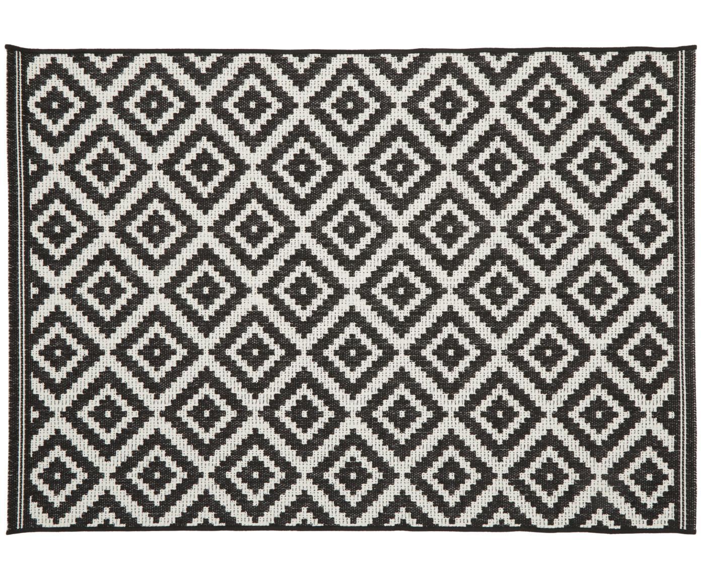 Dywan wewnętrzny/zewnętrzny Miami, Kremowobiały, czarny, S 200 x D 290 cm (Rozmiar L)