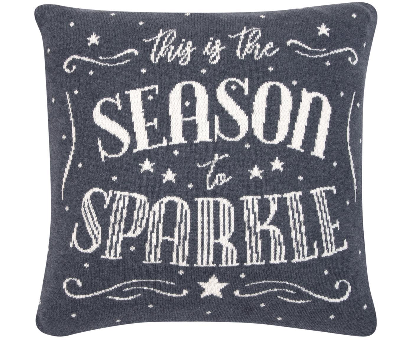 Poszewka na poduszkę Sparkle, 100% bawełna, Szary, kremowobiały, S 40 x D 40 cm