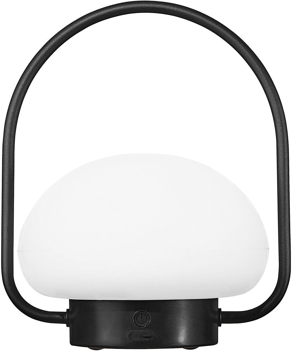 Lampada da tavolo a LED dimmerabile Sponge, Materiale sintetico (PVC), Bianco, nero, Ø 23 x Alt. 28 cm