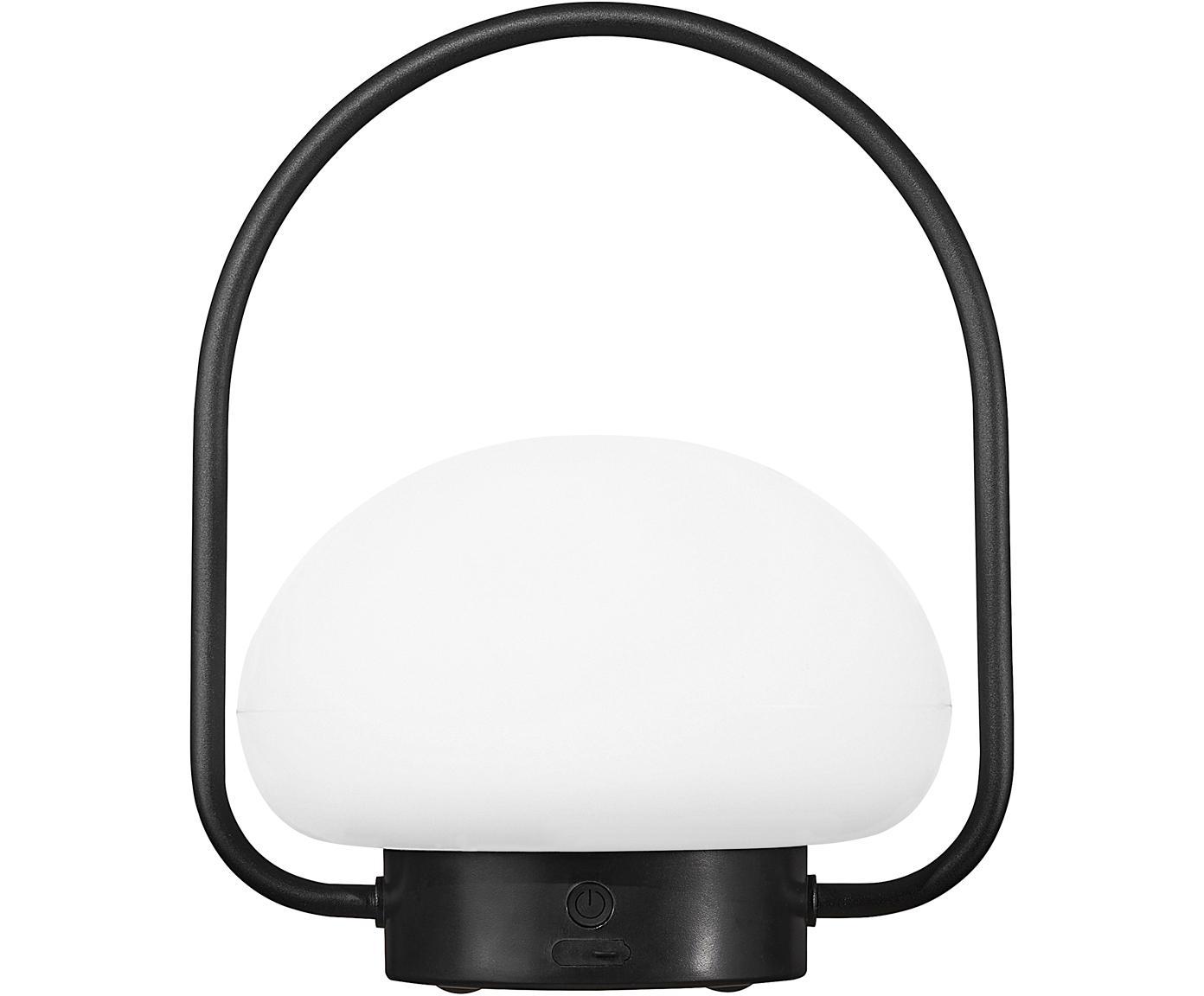 Lámpara de mesa LED regulable para exteriores Sponge, Plástico (PVC), Blanco, negro, Ø 23 x Al 28 cm