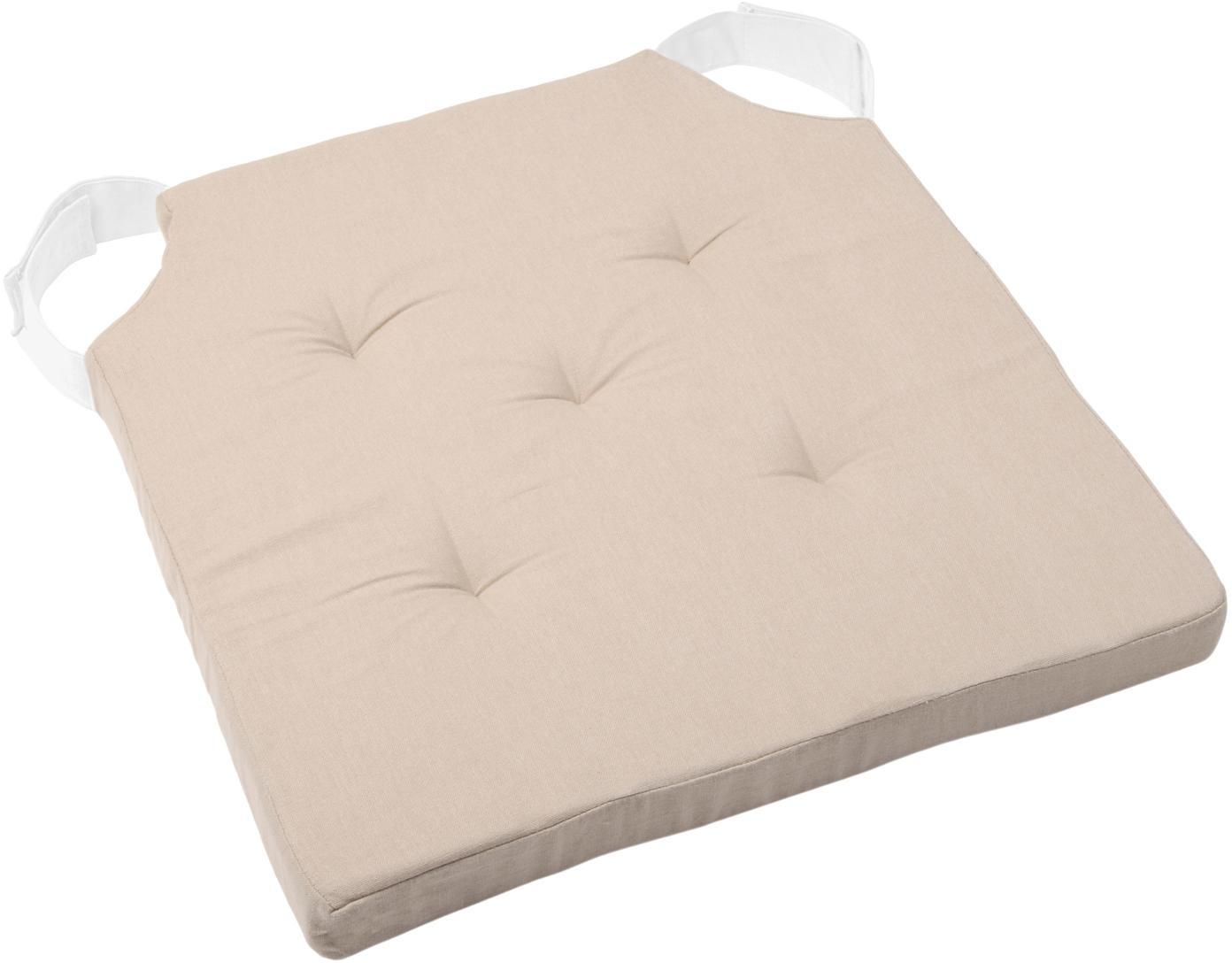 Cuscino sedia Duo, Rivestimento: cotone, Beige, Larg. 40 x Lung. 40 cm