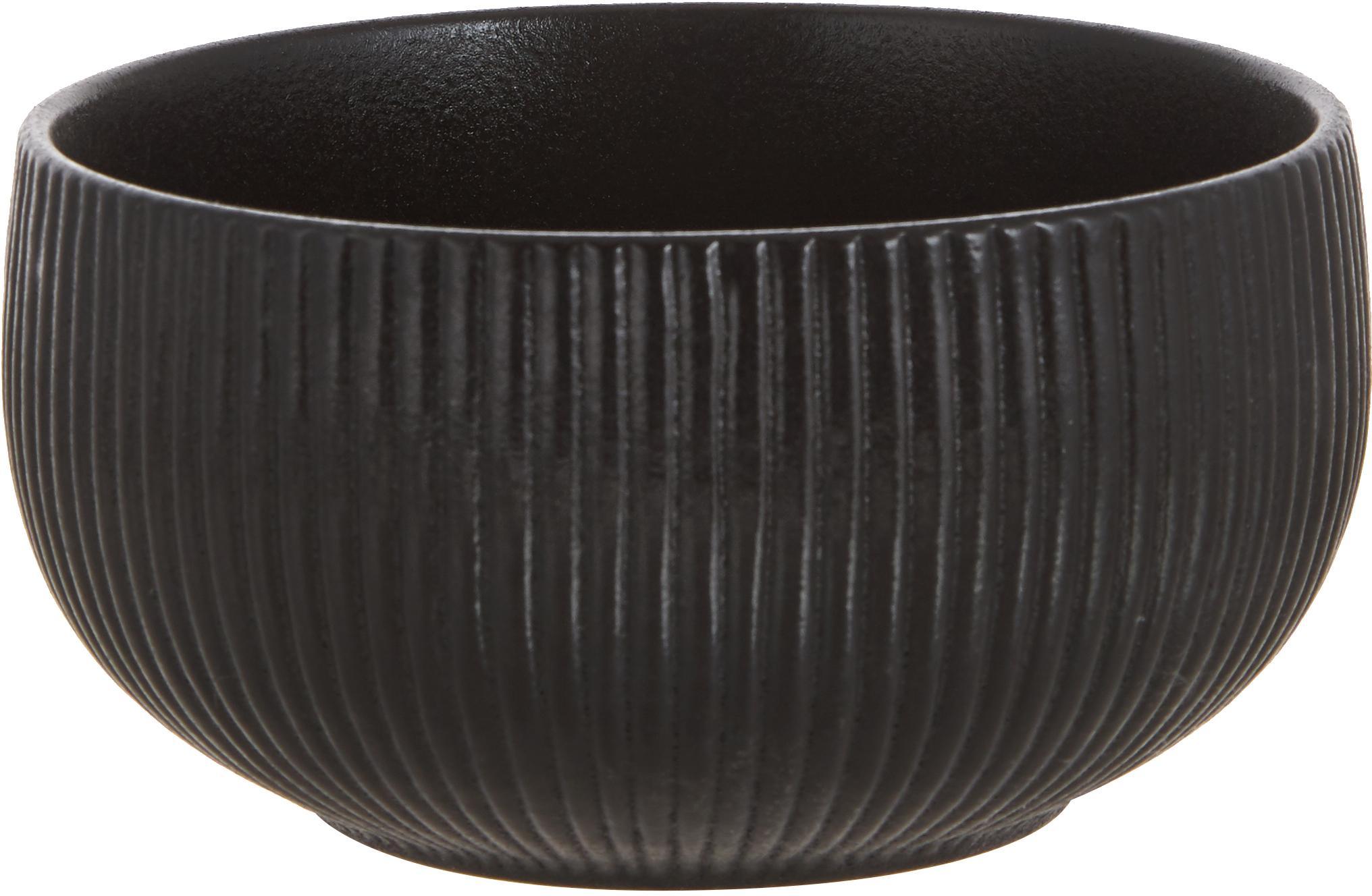Schalen Neri, 2 stuks, Keramiek, Zwart, Ø 15 x H 8 cm