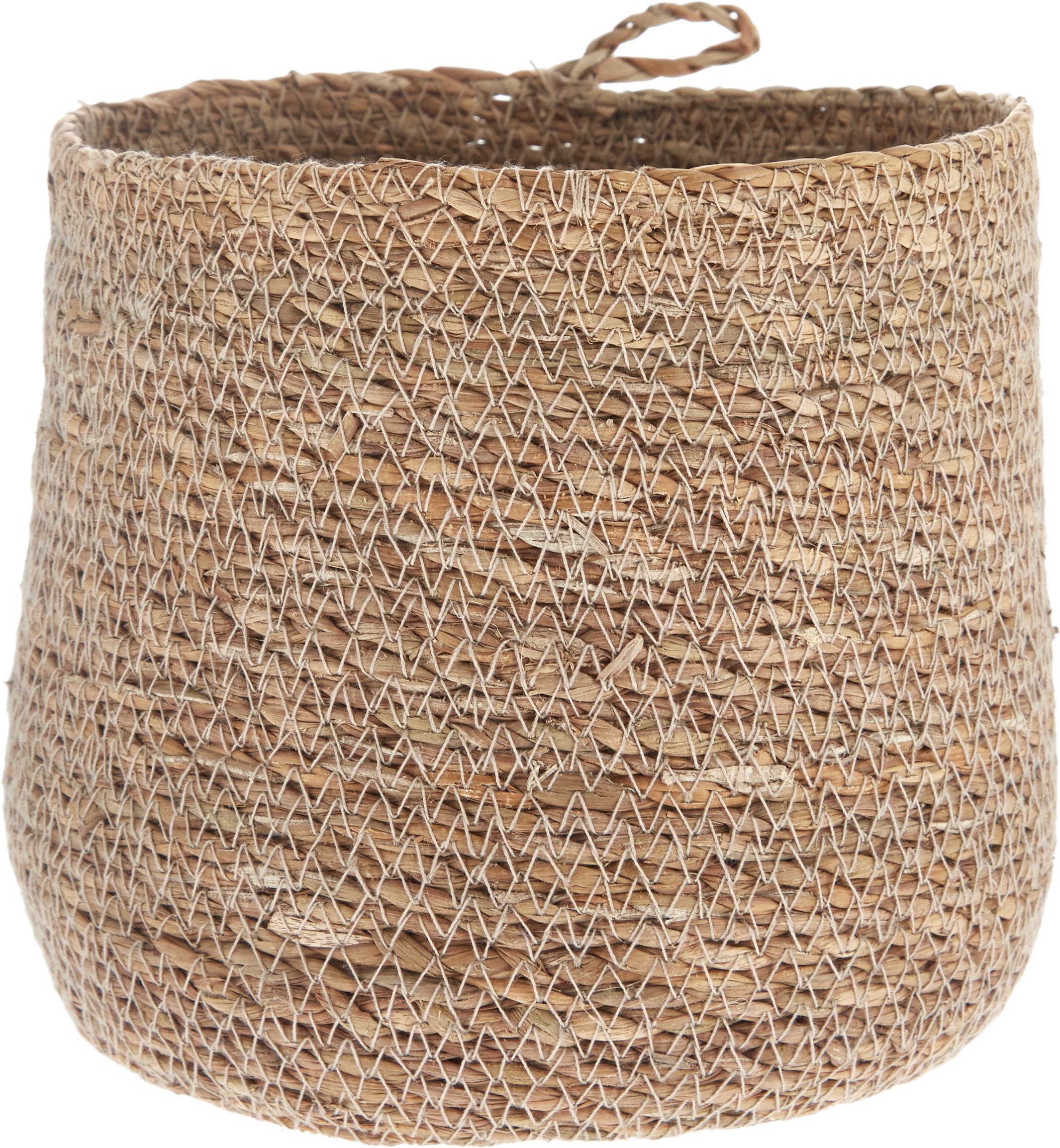 Cesto in fibra naturale Hang, Alghe, Alghe, Ø 18 x Alt. 16 cm