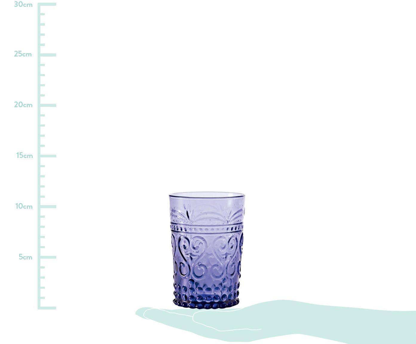 Sada ručně foukaných sklenic v různých provedeních Melting Pot Berry, 6 dílů, Odstíny modré, odstíny červené