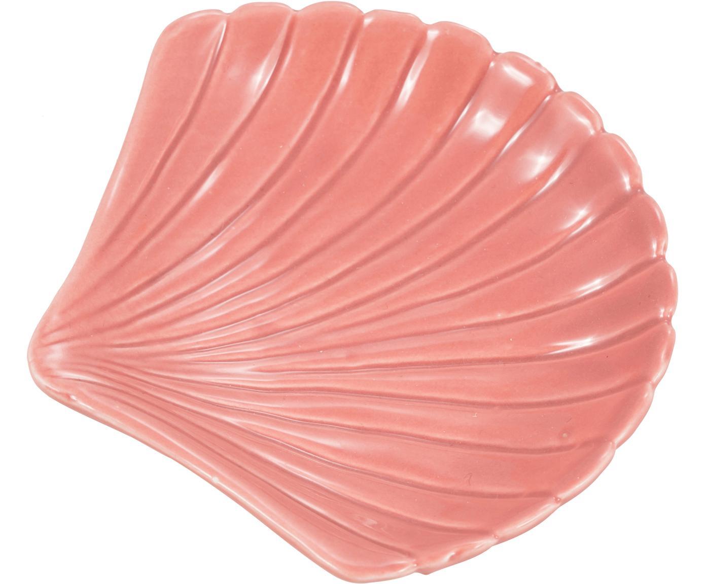 Seifenschale Muschel, Steingut, Rosa, 13 x 2 cm