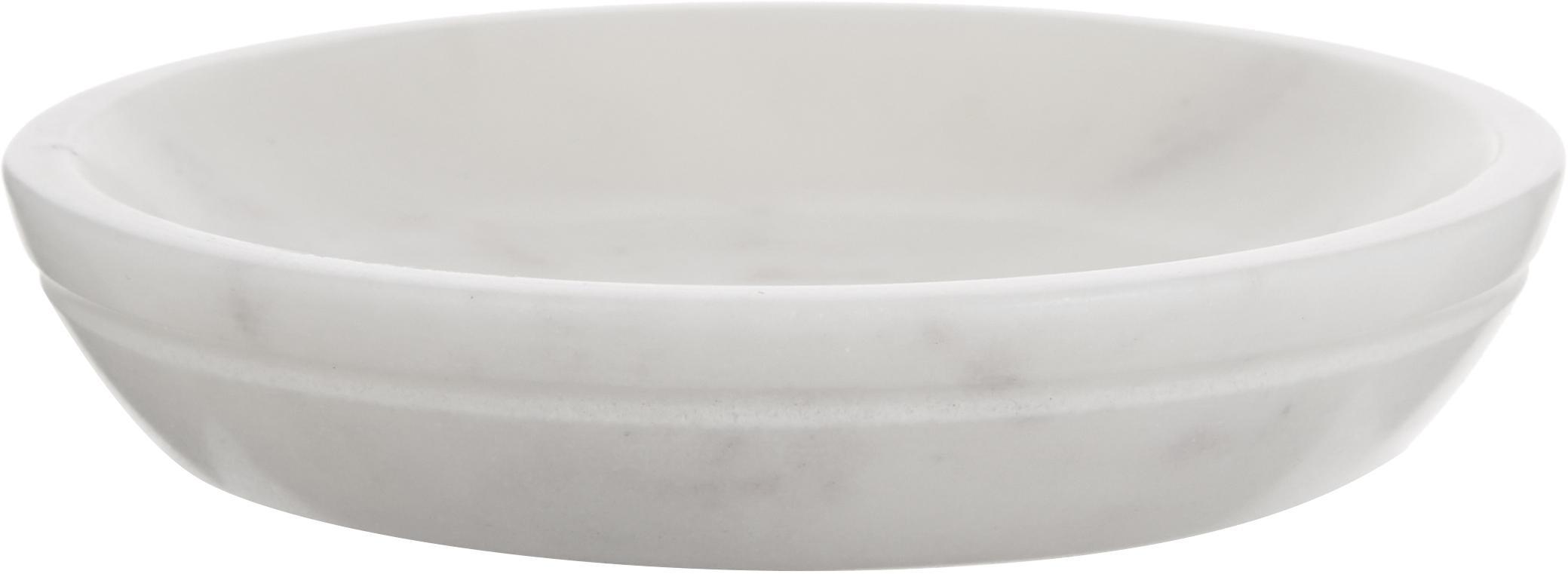 Mydelniczka z marmuru Lorka, Marmur, Biały, Ø 10 x W 2 cm