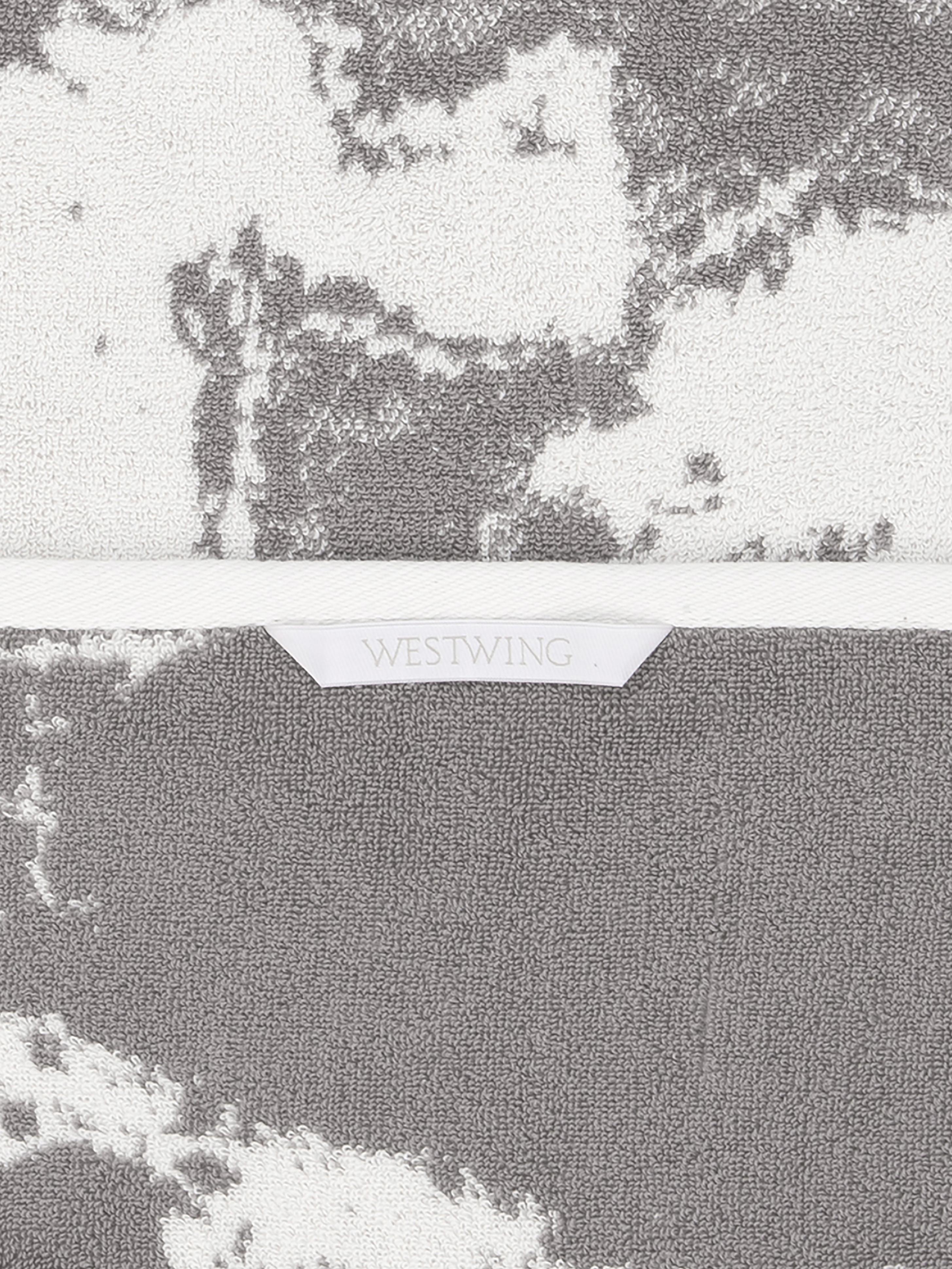 Handtuch-Set Malin mit Marmor-Print, 3-tlg., Grau, Cremeweiss, Verschiedene Grössen