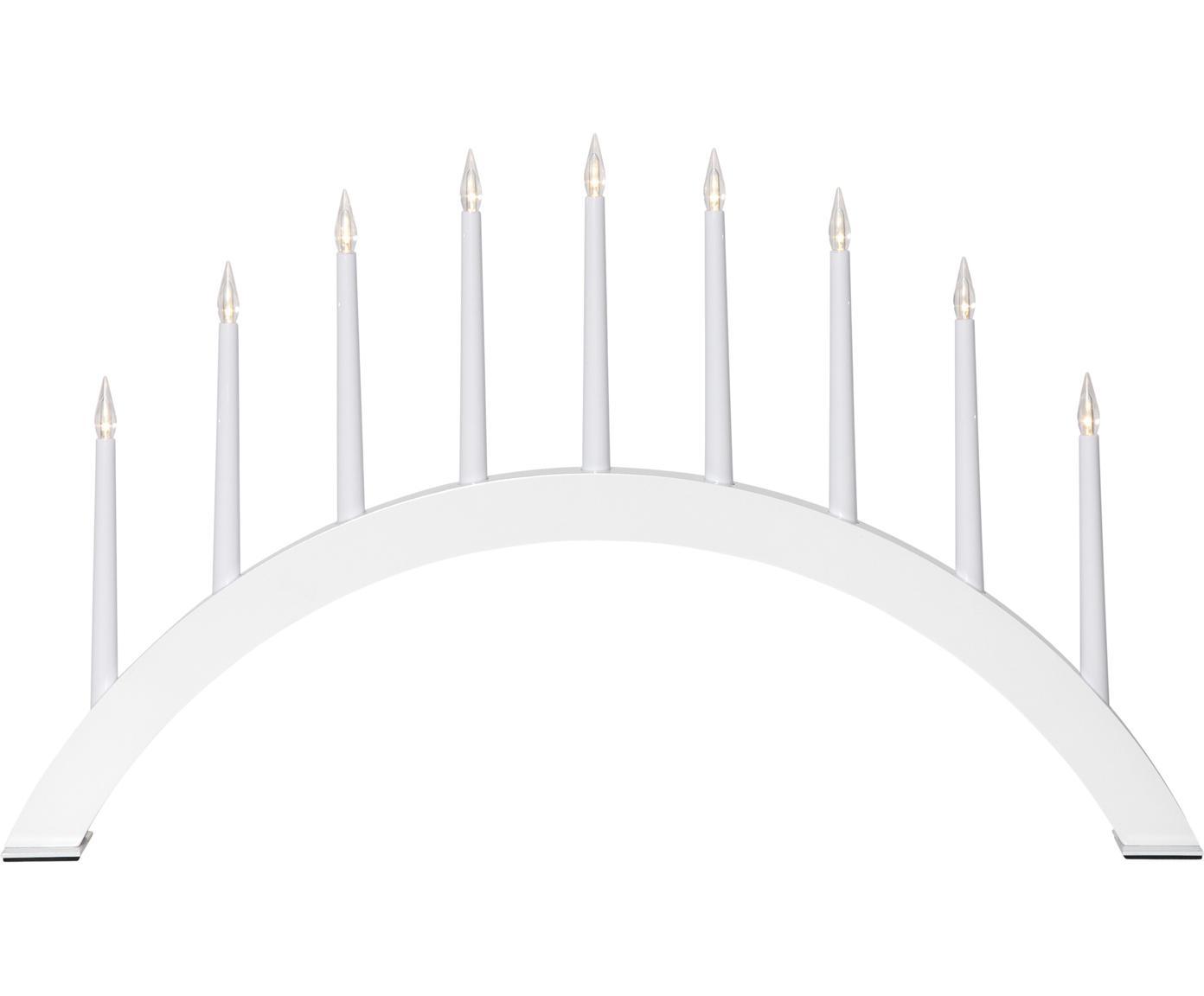 Oggetto luminoso con spina Jazz, Bianco, Larg. 53 x Alt. 32 cm