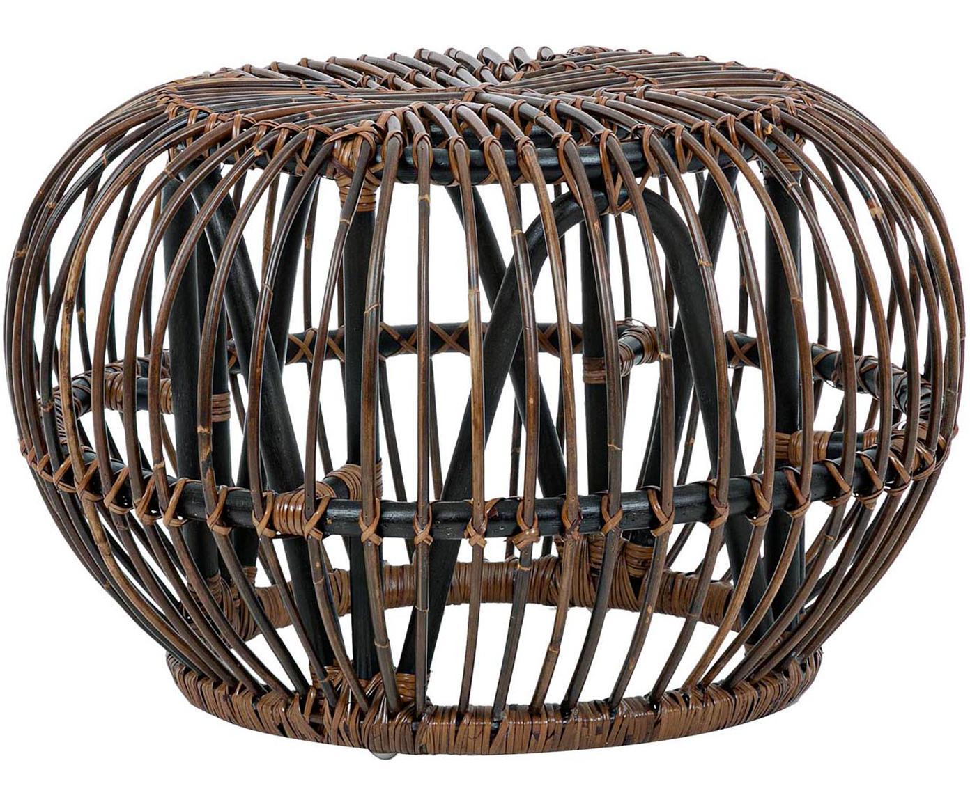 Mesa de centro Dorodal, Ratán con cabado natural Nitrocelulosa, Marrón, Ø 65 x Al 44 cm